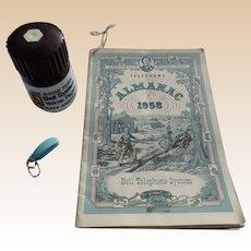 Bell Telephone Almanac Pepper Mill Telephone Key Set
