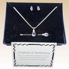 Amethyst Necklace Set