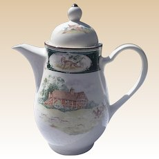 Rare Noritake Keltcraft Ireland 9170 Pursuit Coffee Tea Server