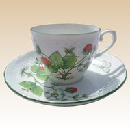 Bavaria Schumann Arzberg Germany Porcelain Strawberry Cup and Saucer Set