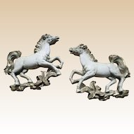1959 Universal Statuary Corp Plaster Horse Plague Set