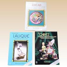 Francis Joseph Lalique Glass Rhead Pottery and Chintz Porcelain Price Guide Set