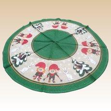 Scandinavian Burlap Christmas Round Table Cloth