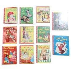 Miniature 1940's Children Lolly Pop Eleven Book Set