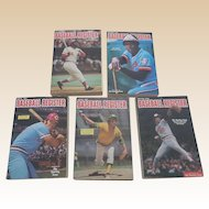 1970's Baseball Registers Set Of Five