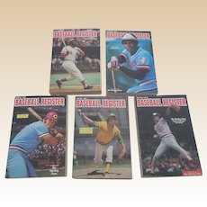 1970's Baseball Registers Set Of Five