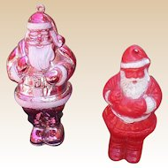 Plastic Santa Candy Container Set