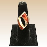 Baltic Amber Sterling Ring