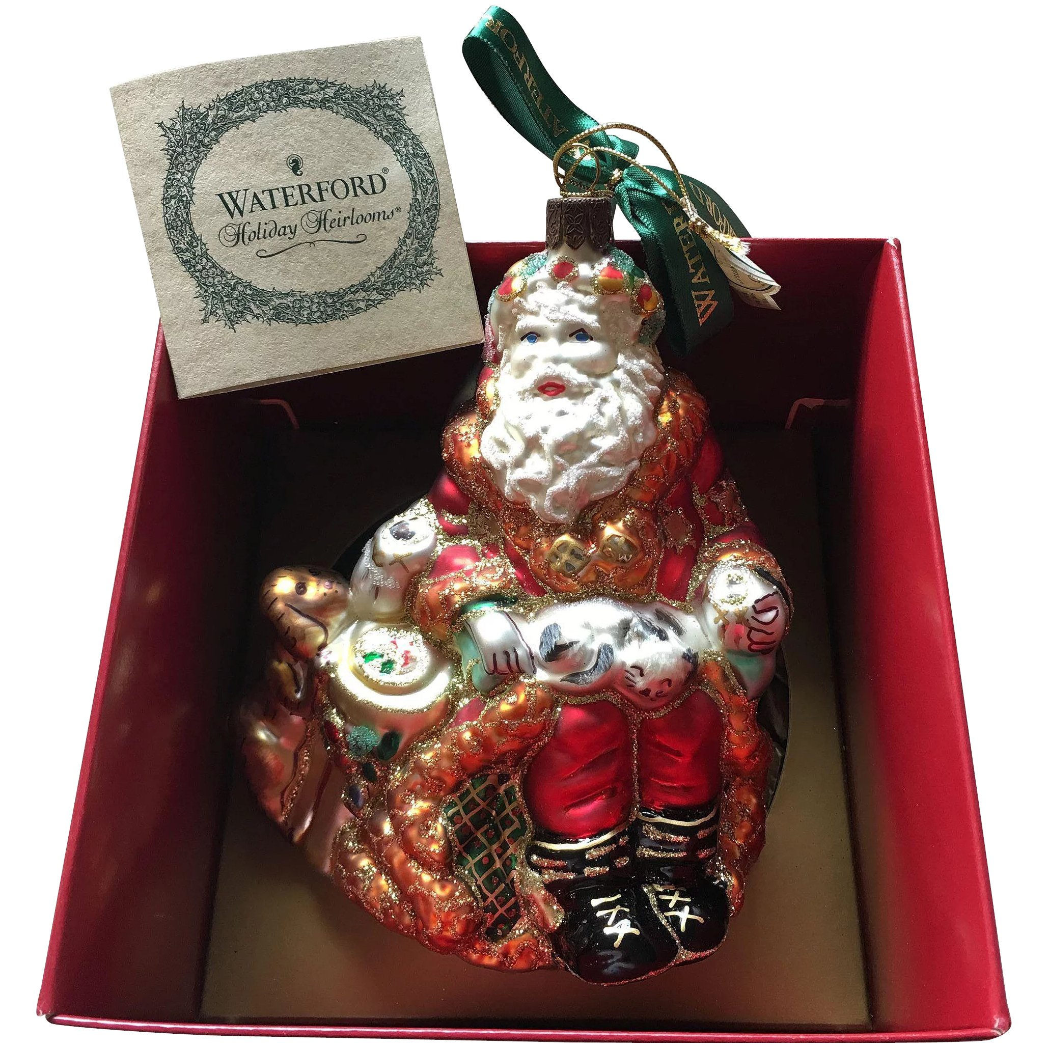 Waterford Christmas Ornaments.Waterford Crystal Holiday Heirlooms Santa Ornament