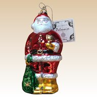 Kurt S Adler Glass Polonaise St. Nicolas Santa Ornament