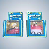 Vintage 1975 Peanuts Snoopy Friction Power Toy Set