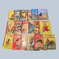 1950's Vintage Treasure Books Children Picture Book Set