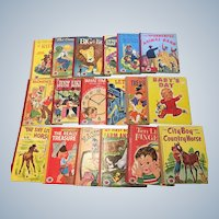 1950's Vintage Treasure Books Children Picture Book Set