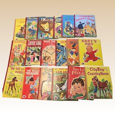 Vintage Treasure Books Children Picture Book Set