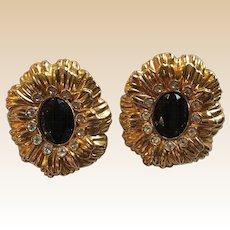KJL Avon Clip Earrings Book Piece