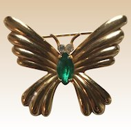 Delicate Coro Butterfly Pin