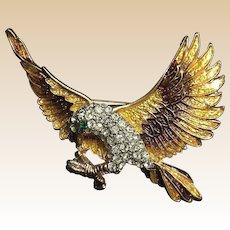Spoontiques Art Enamel Rhinestone Eagle Pin
