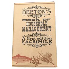 1861 Hardcover Beeton's Book Of Household Mangement 1977 Edition