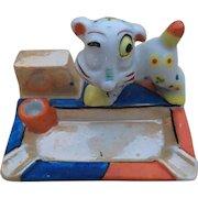 Japan Ceramic Luster Ware Dog Ashtray