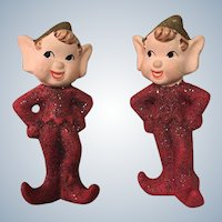 Glittery Pixie Elf Figurine Set Of Two