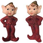 Glittery Pixie Elf Figurine Set Of Two