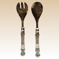 Fifth Avenue Crystal Salad Spoon and Fork Set