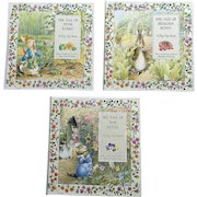 1987 Beatrix Potter Pop-Up Children Book Set of Three