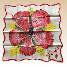 New Florida Floral Souvenir Hankie