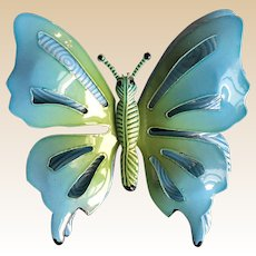 Large Enamel Metal Butterfly Pin