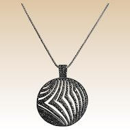 Marcasite Sterling Necklace and Chain