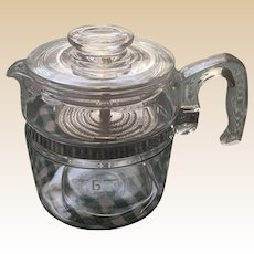 Pyrex Glass 6 Cup Coffee Pot
