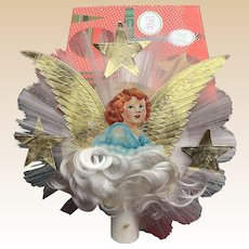 Spun Glass Angel Hair Die Cut Scrape Angel Topper