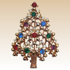 Eisenberg Ice Rhinestone Christmas Tree Pin