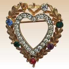 1950's JJ Dearest Heart Pin Book Piece