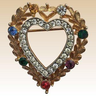 1950's JJ Dearest Heart Pin Book Piece