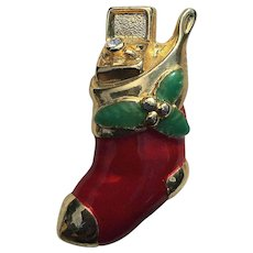 Unusual Danecraft Christmas Stocking with Engagement Ring Pin