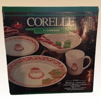 New In Box Corelle Corningware St. Nick Dinnerware Set