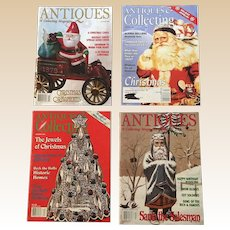 December Christmas Antiques and Collectibles Magazine Set
