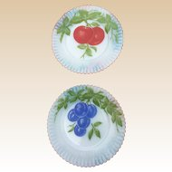 MacBeth Evans Petalware Fruit Plate Set