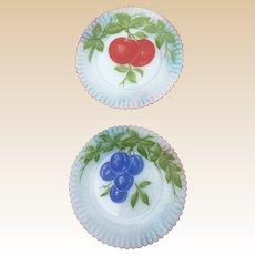 MacBeth Evans Petalware Fruit Plate Set