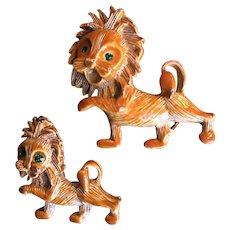 Gerry's Enamel Lion Scatter Pin Set Book Piece