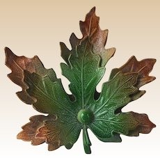 Enamel Maple Leaf Pin