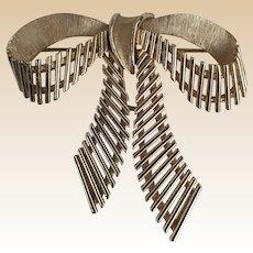 Trifari Gold Tone Bow Pin