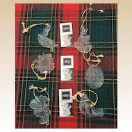 Mikasa Glass Joyous Collection Christmas Ornament Set
