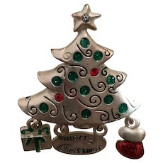 Merry Christmas Tree Pin