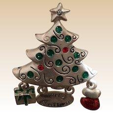 Merry Christmas Tree Pin