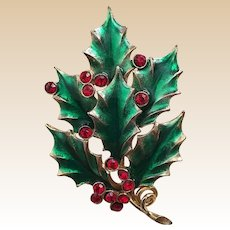 Alex & Ani Rhinestone Christmas Holly Pin