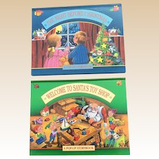 1994 Welcome To Santa's Toy Shop and The Night Before Christmas Children Pop Up Books