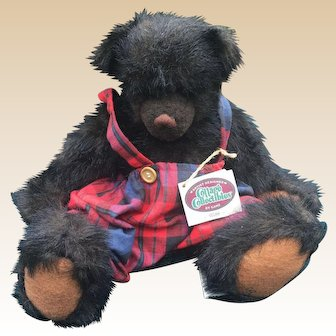 Ganz 1996 Webb Artist Christy Rave Jointed Bear 16 Inch Cottage Collectibles