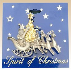 Spirit Of Christmas Pewter Santa Claus Pin